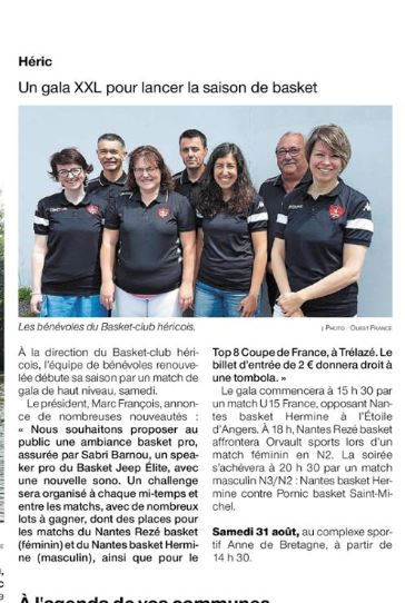 Article Ouest France 08/2019