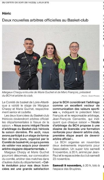 Article Ouest France 28/10/2019